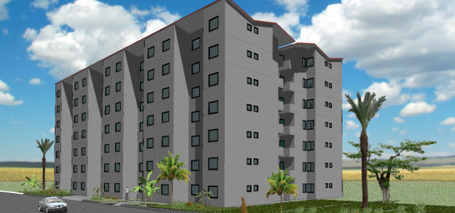 33 - Multi-Family - 2 + 3 Bedroom - 51m2 - Perspective