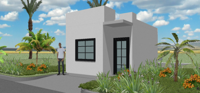 Single Family - 1 Bedroom - 35m2 Perspective